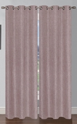 Oscar Faux Linen Curtain (2 Piece Set) Taupe