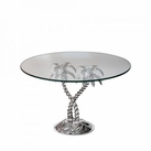 Palm Tree Glass Top Cake Stand