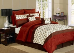 Park Avenue Comforter Set  (Burgundy)
