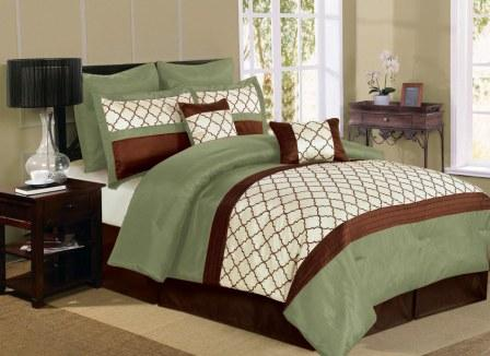 Park Avenue Comforter Set (Sage Green)