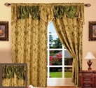 Paula Curtain with Attached Valance (Sage Green)