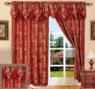 Penelope Curtain with Attached Valance (Burgundy)