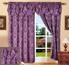 Penelope Curtain with Attached Valance (Purple)