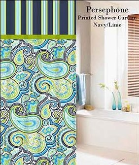 Persephone Printed Shower Curtain