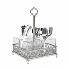 Pewter Finish Flatware Caddy