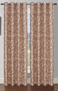 Pinehurst Printed Thermal Blackout Curtain (Mocha)