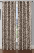 Pinehurst Printed Thermal Blackout Curtain (Ash Grey)