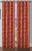 Pinehurst Printed Thermal Blackout Curtain (Chili Red)