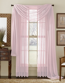 Pink Sheer  Curtain Scarf