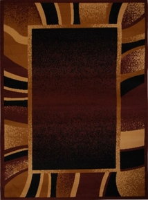 Premium Brown Modern Area Rug 5x8