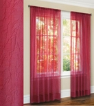 Primavera Crushed Sheer Curtain (Fuchsia)