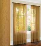 Primavera Crushed Sheer Curtain (Gold)