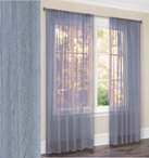 Primavera Crushed Sheer Curtain (Light Blue)