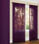 Primavera Crushed Sheer Curtain (Purple)