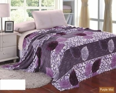 Purple Mist Floral Printed Blanket