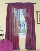 Purple Silky Stripe Sheer Panel