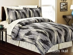 Random Ikat Complete Bed in a Bag Set