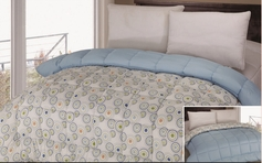 Reversible Comforter (Blue / Circles)