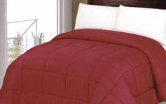 Reversible Comforter (Brick Red)
