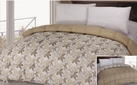 Reversible Comforter (Taupe/ Leaves)