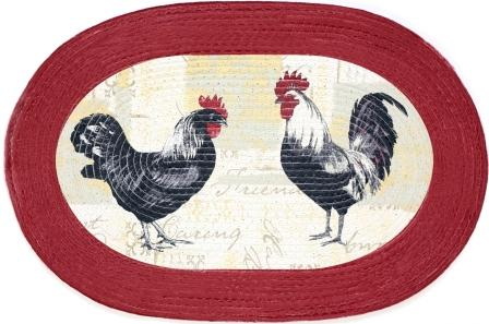 Rooster 20″x30″ Oval Kitchen Rug