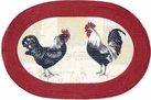 "Rooster 20""x30"" Oval Kitchen Rug"