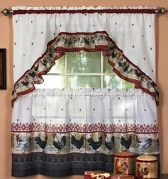 Rooster Kitchen Curtain Set [Available May 1st]