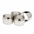 Set of 4 Round Hammered Napkin Rings