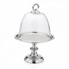 Round Pedestal Tray Glass Dome