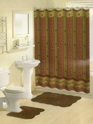 Royal 15 Piece Bath in a Bag Set (Brown)