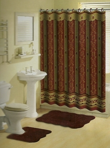 Royal 15 Piece Bath in a Bag Set (Burgundy)