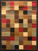 Royalty Checkerboard Area Rug (Black & Red)