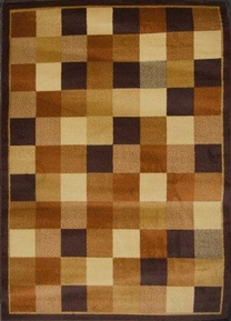 Royalty Checkerboard  Area Rug (Chocolate Brown)