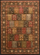 Royalty Flower Panels Area Rug