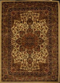 Royalty Center Abstract Area Rug (Ivory)
