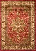 Royalty Center Abstract  Area Rug (Red)