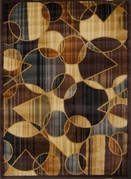 Royalty Meshing Shapes Area Rug (Blue & Brown)