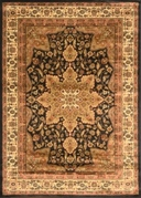Royalty Center Abstract Area Rug 4x6 (Black)