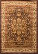 Royalty Center Abstract Area Rug 4x6 (Brown)