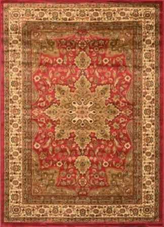 Royalty Center Abstract Area Rug 4×6 (Red)