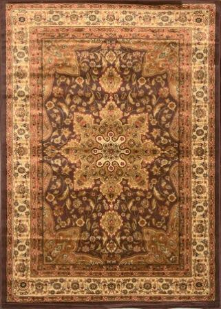 Royalty Center Abstract Area Rug 5×8 (Brown)