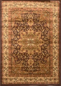 Royalty Center Abstract Area Rug 8x11 (Brown)