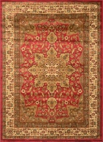 Royalty Center Abstract Area Rug 8x11 (Red)