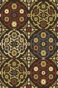 Royalty Chic Area Rug (Brown)