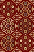 Royalty Chic Area Rug (Red)