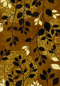 Royalty Allover Climbing Ivy Area Rug (Brown)