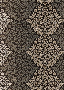 Royalty Diamond Floral Area Rug (Brown)