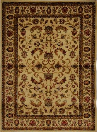 Royalty Fancy Scroll Area Rug 4x6 (Ivory)
