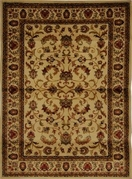 Royalty Fancy Scroll Area Rug 5x8 (Ivory)