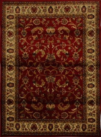 Royalty Fancy Scroll Area Rug 5×8(Red)
